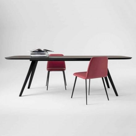 Mesa de jantar de qualidade com tampo de madeira de freixo Made in Italy - Ulma