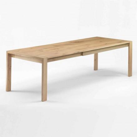 Mesa de jantar extensível de madeira até 340 cm Made in Italy - Willow