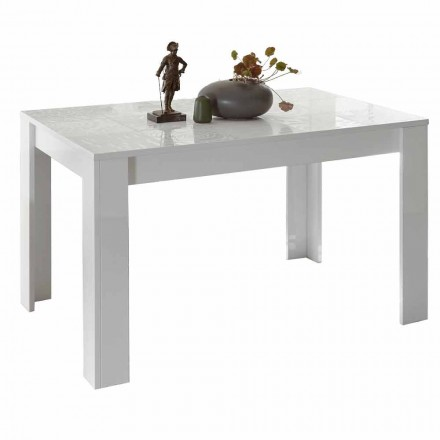 Mesa de Jantar em Melamina Extensível até 185 cm Fabricado na Itália - Aneta