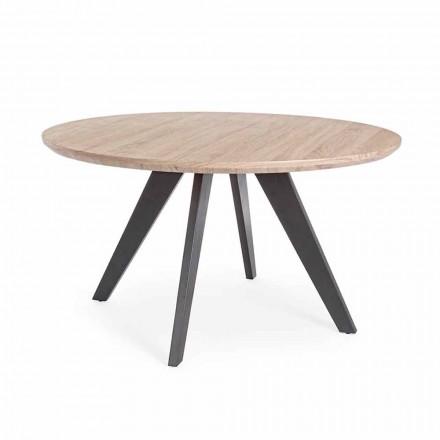 Mesa de Jantar Moderna com Tampo Redondo em Mdf Coated Homemotion - Varna