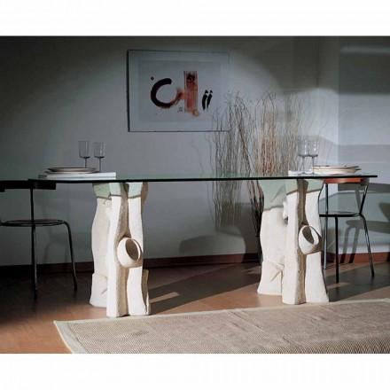 Made in Italy mesa de jantar feita de pedra natural Vicenza Daiana