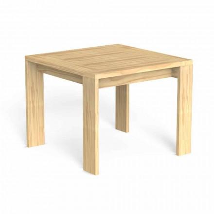 Mesa de jantar quadrada ao ar livre em madeira preciosa - Argo by Talenti