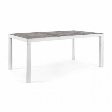 Mesa de jantar externa com tampo de cerâmica e base de alumínio - Jen