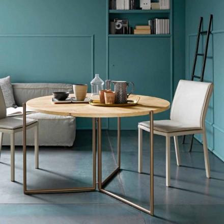 Mesa de Jantar Dobrável Moderna em Madeira e Metal Made in Italy - Menelao