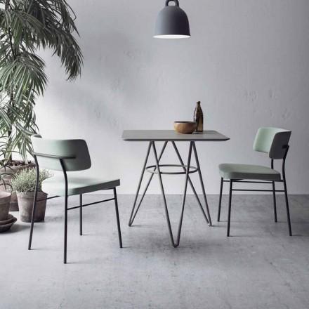 Mesa de Jantar Fina com Tampo Quadrado em HPL Made in Italy - Dublin