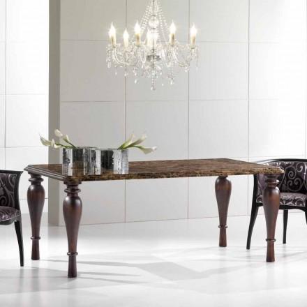 Mesa de Jantar Retangular em Emperador Dark Marble Made in Italy - Nicolas