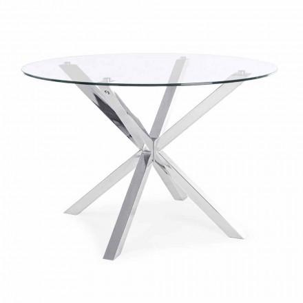 Mesa de Jantar Redonda Homemotion com Tampo de Vidro Temperado - Denda