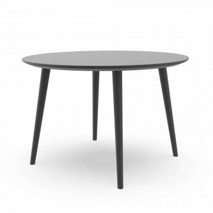 Mesa de jantar redonda para jardim em alumínio branco ou carvão - Sofy Talenti