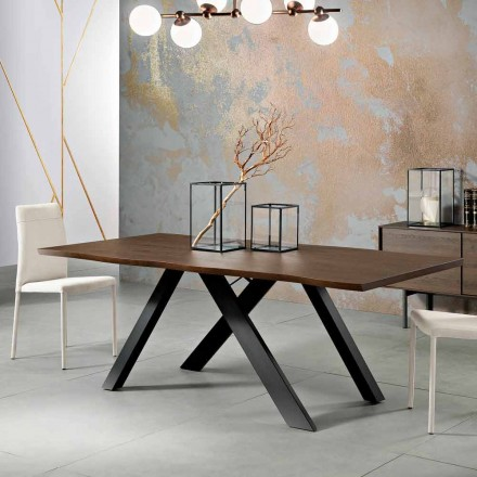 Mesa de madeira maciça de design feita na Itália, Wilmer