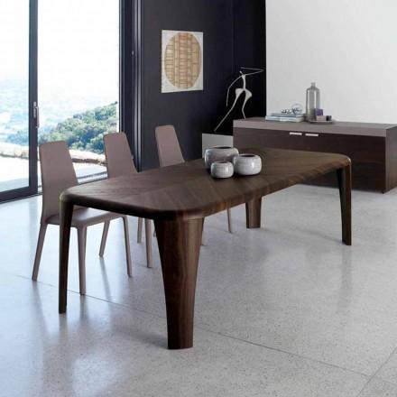 Tabela de design moderno de madeira artesanal em madeira de Itália