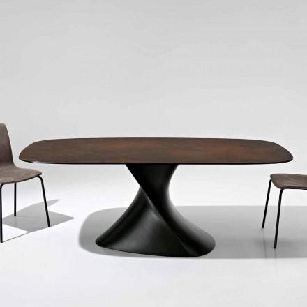 Mesa de design moderno em vitrocerâmica feita na Itália, Clark