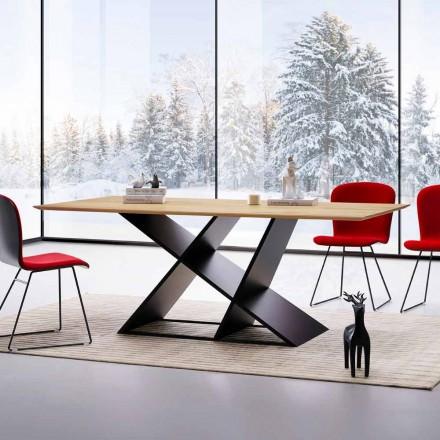 Mesa de design moderno em madeira multicamada, produzida na Itália, Amaro