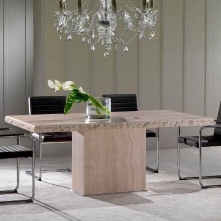 Mesa de jantar feita de pedra Travertino, design moderno, Narciso