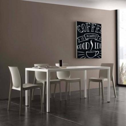 Mesa de jantar para interior / exterior Ohio, fabricada em aço tratado por cataforese