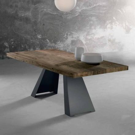 Mesa de madeira maciça de design feita na Itália, Zerba