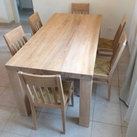 Mesa de madeira maciça de cinza design clássico fabricada na Itália - Nicea