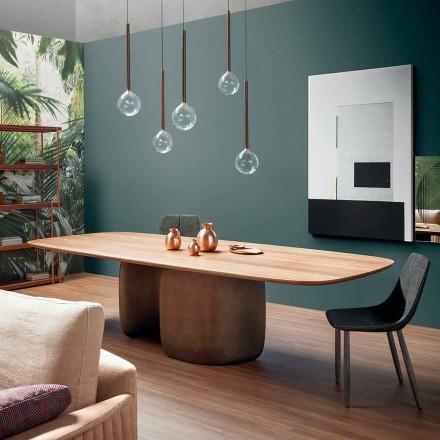 Mesa moderna de madeira maciça fabricada na Itália - Bonaldo Mellow