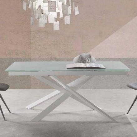 Mesa extensível de design moderno em vidro - Marliana