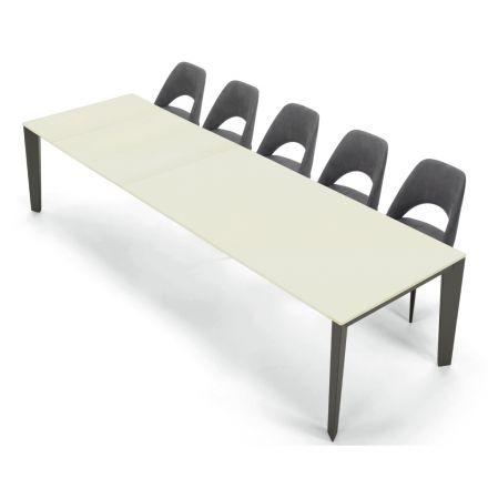 Mesa extensível e moderna 16 assentos em Fenix laminado fabricado na Itália - Settanta
