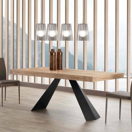 Mesa extensível moderna até 260/280 cm em madeira e metal - Téramo