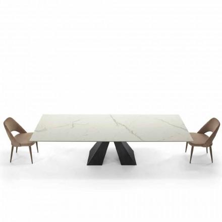 Mesa extensível moderna até 300 cm em mármore fabricada na Itália - Dalmata