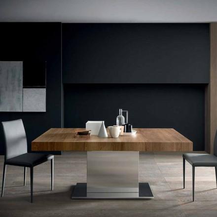 Mesa Extensível Moderna Até 480 cm em Madeira Made in Italy - Michael