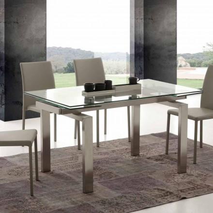 Mesa extensível de jantar Georgia, design moderno