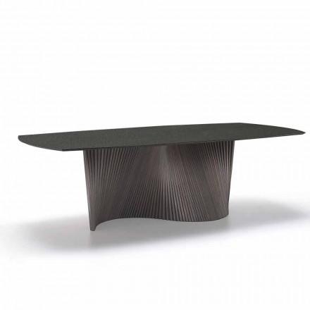 Mesa moderna com tampo de grés de mármore feito na Itália, Adrano