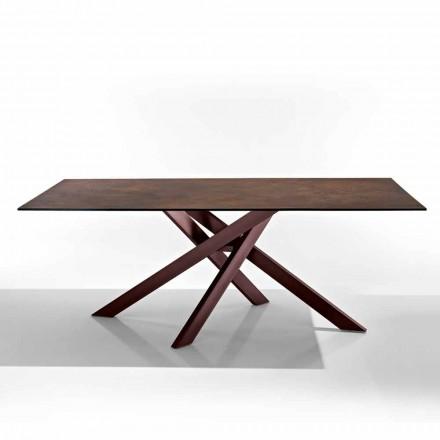 Moderna mesa em vitrocerâmica e metal feita na Itália, Dionigi