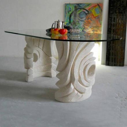 Made in Italy mesa de jantar com base de pedra natural Vicenza Erinni