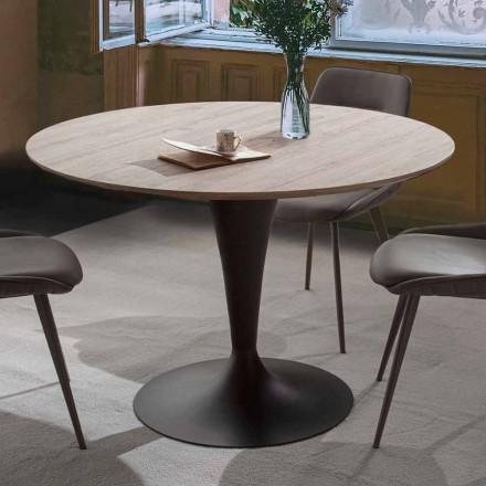 Mesa de jantar com tampo redondo extensível até 170 cm - Moreno