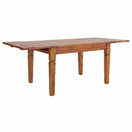 Mesa Extensível Classic Até 290 cm em Madeira Maciça Homemotion - Carbo
