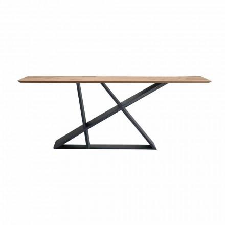Mesa de Jantar Extensível Até 294 cm em Madeira, Fabricado na Itália Qualidade - Cirio