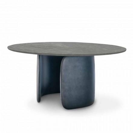 Mesa de Jantar em Cerâmica com Base de Poliuretano Made in Italy - Mellow Bonaldo