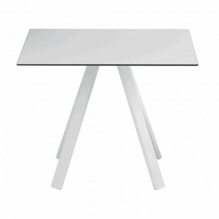 Mesa quadrada para exteriores em metal e HPL fabricada na Itália - Deandre