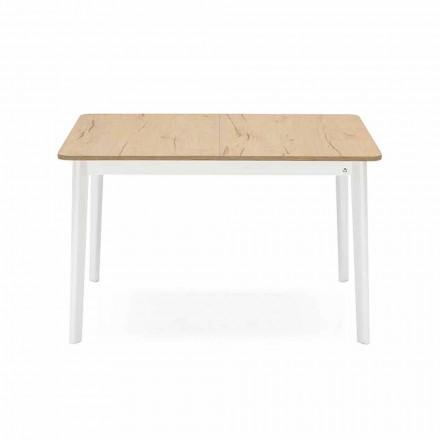 Mesa extensível retangular até 170 cm em madeira Made in Italy - Dine