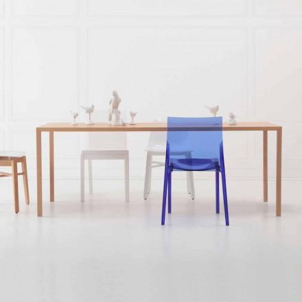 Mesa de jantar retangular de design moderno em madeira de carvalho natural - Smart