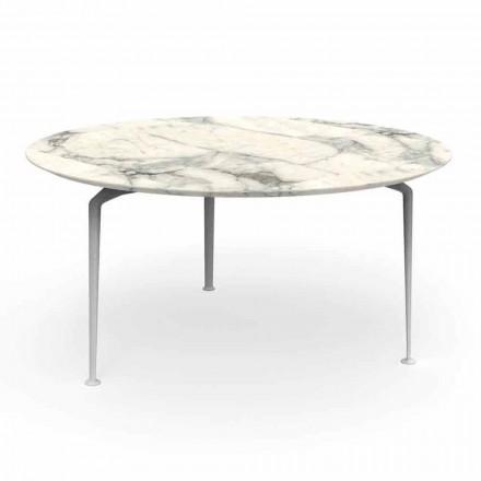 Mesa redonda de grés e alumínio de design moderno - Cruise Alu Talenti