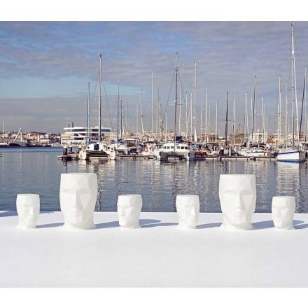 Mesa moderna em forma de rosto ao ar livre Adan by Vondom, em polietileno