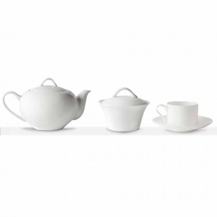 Chávenas de Chá Empilháveis Serviço de Café da Manhã 14 Peças em Porcelana - Romilda