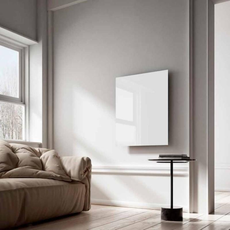 Design radiador elétrico infravermelho em vidro branco claro