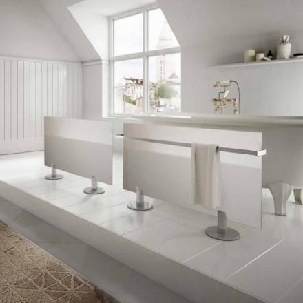 Radiador de piso elétrico de design moderno Star, feito de vidro branco