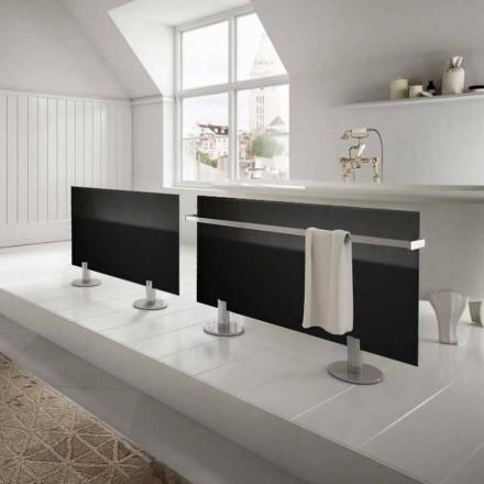 Design moderno piso radiador elétrico estrela, feita de vidro preto