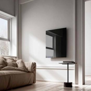 Radiador elétrico de design infravermelho em vidro transparente preto