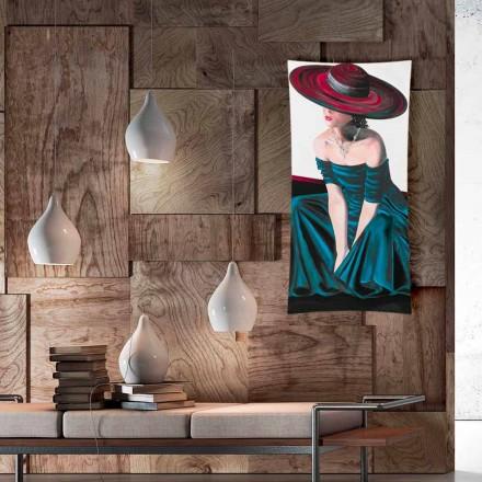 Radiador elétrico de vidro temperado Barry com imagem, design moderno