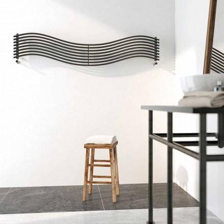 Radiador de água quente em aço, design moderno, Wave by Scirocco H