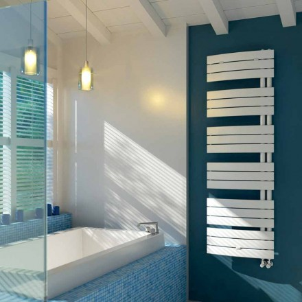Radiador de água quente de aço branco, design moderno, vela por Scirocco H