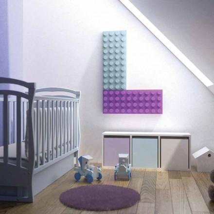Radiador elétrico decorativo lego tijolo feito na Itália por Scirocco H