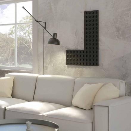 Radiador de água quente de design moderno Tijolo feito na Itália por Scirocco H