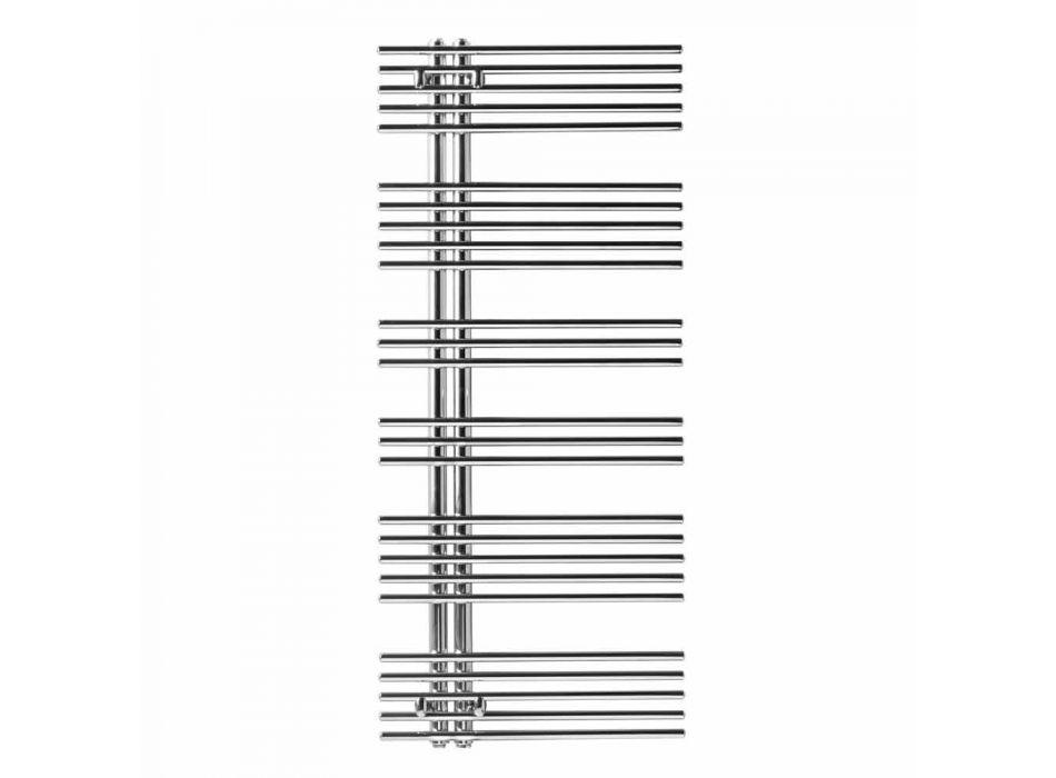 Aquecedor de toalhas de radiador cromado em aço hidráulico Design 483 W - Pavone